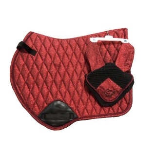 EQUIPRIDE SHIMMER JUMP SADDLE PAD RED