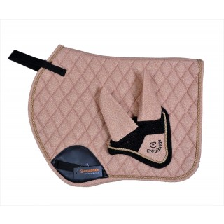 EQUIPRIDE SHIMMER JUMP SADDLE PAD ROSE GOLD