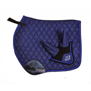 EQUIPRIDE SHIMMER JUMP SADDLE PAD ROSE NAVY