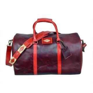 POLO LEATHER TRAVEL BAG CHERRY