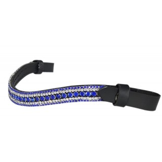 Quick Release 5 Row Browband Royal Blue